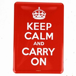 "Bild von BlechPOSTKARTE ""KEEP CALM AND CARRY ON"" A6"