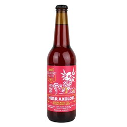 Bild von Himburgs Braukunstkeller & Ale Browar - COLLABSUD - HERR AXOLOTL - BERLINER WEISSE STYLE WITH RASPBERRYS ADDED - 0,5l