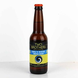 Bild von Two Brothers Brewery - EBELs WEISS - WEISS BEER - USA 0,35l (MHD 09. Juni 2018)